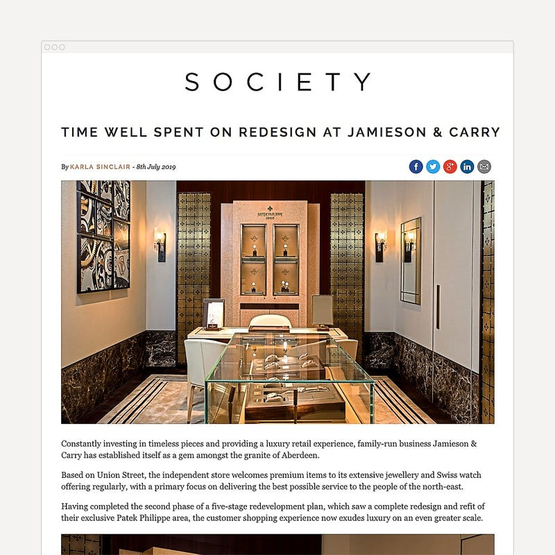 Time well spent on redesign at Jamieson Carry Society 1000 1000