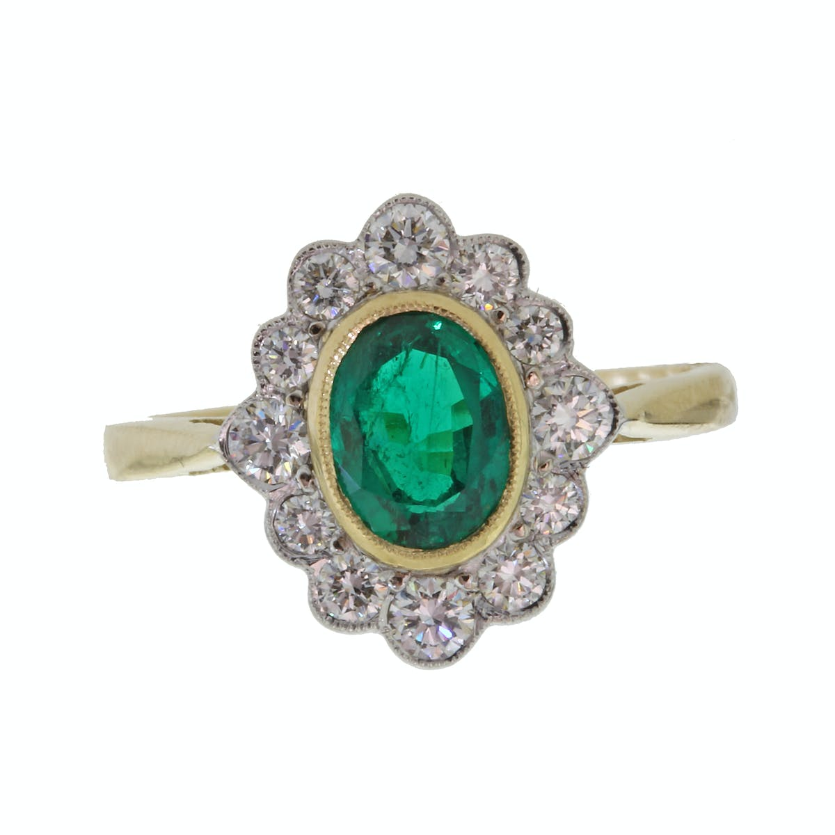 911dcc867 18ct gold emerald and diamond ring | Jamieson & Carry - Jamieson & Carry
