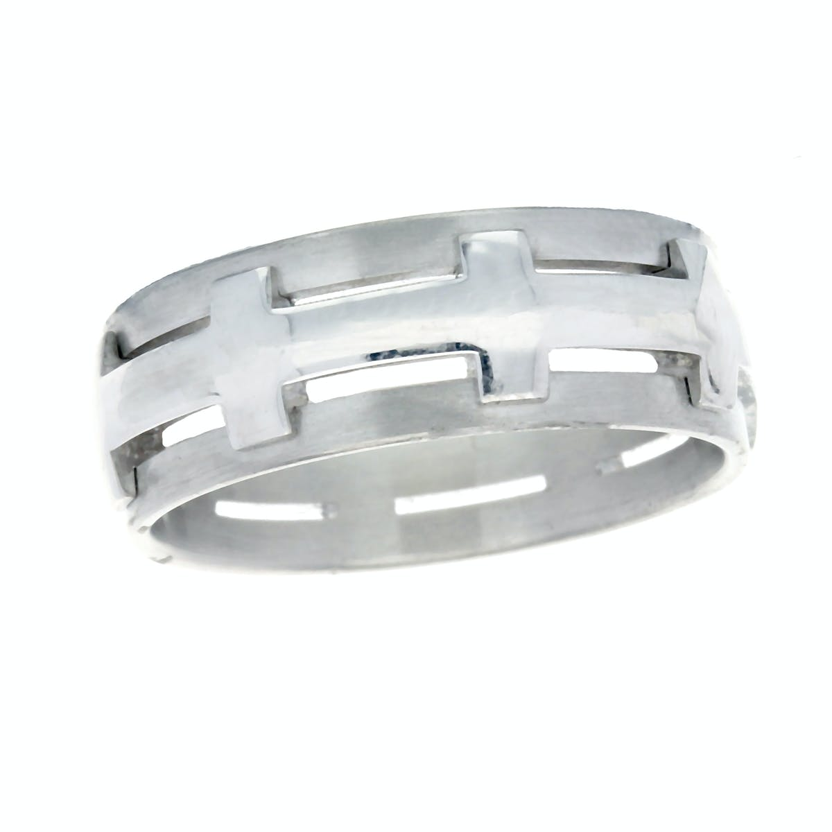 Crossed Wedding Bands.18ct White Gold Crossed Wedding Band Jamieson Carry Jamieson