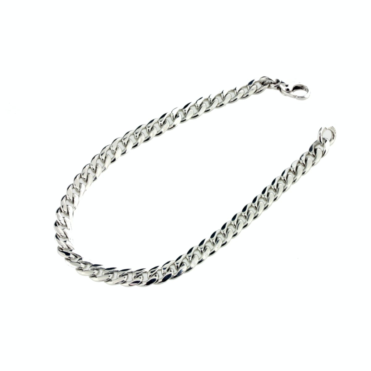 18ct White Gold Curb Bracelet Jamieson Carry